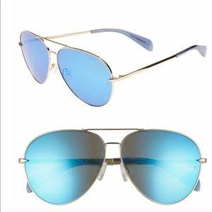 Rag And Bone Mirrored Aviator Sunglasses